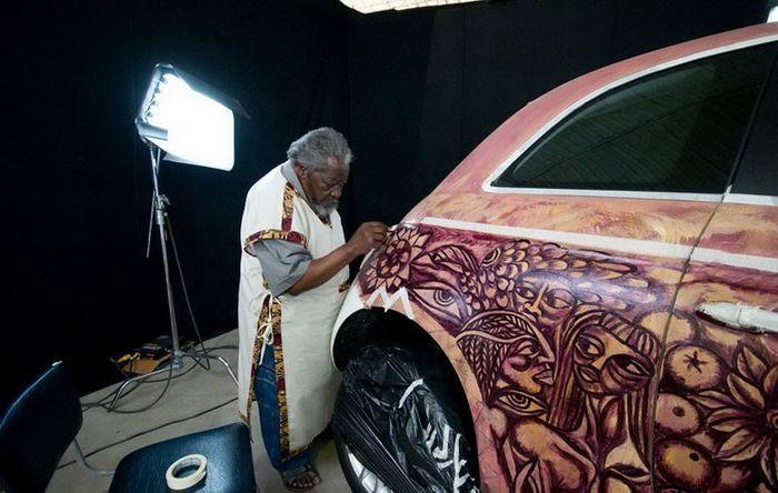Спецверсия Fiat 500 в честь открытия салона в Мозамбика (6 фото)