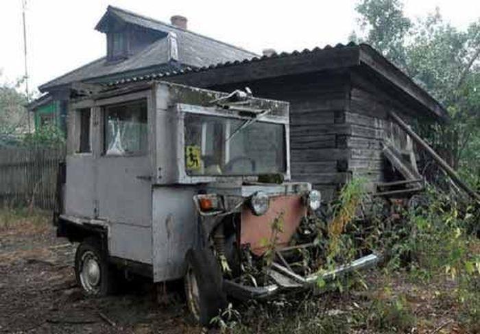 Самодельный тракторишка из Владимирской области (7 фото)