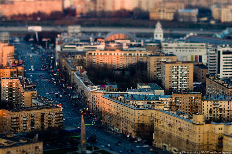 Маленькая Москва в масштабе 1:100.