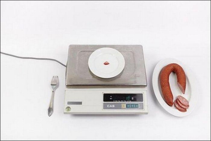 Колбаса полукопченая – 1 грамм