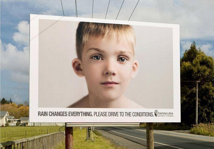 Социальная реклама о безопасности дорожного движения.