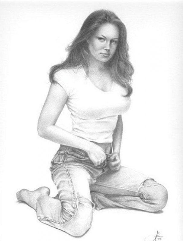Сексуальные девушки лгбт рисунок карандашом