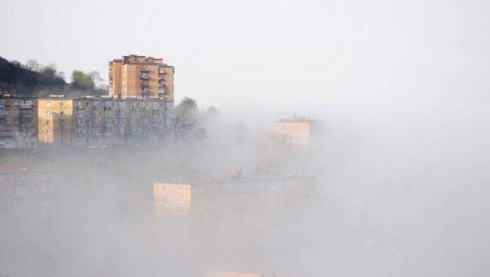 Утренний туман во Владивостоке (32 фото)