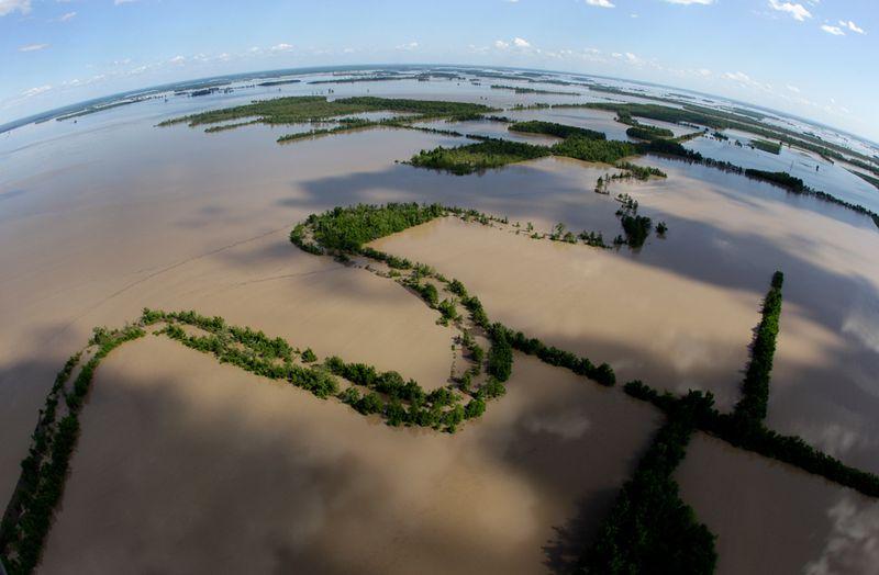 1149 Река Миссисипи вышла из берегов