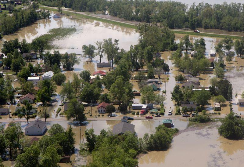 1150 Река Миссисипи вышла из берегов