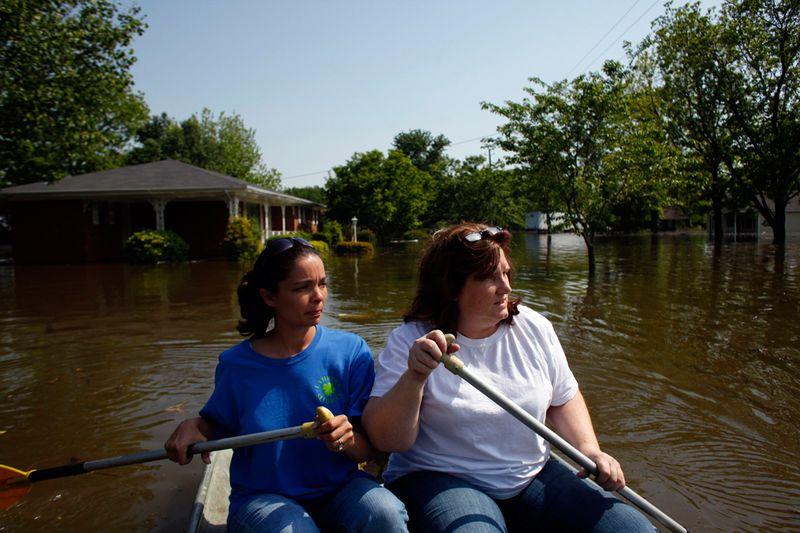 3018 Река Миссисипи вышла из берегов