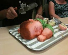 Торт в виде ребенка
