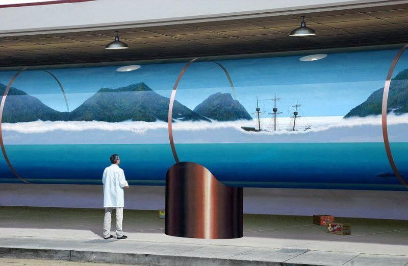 Оптические иллюзии от Джона Пью (25 фото)