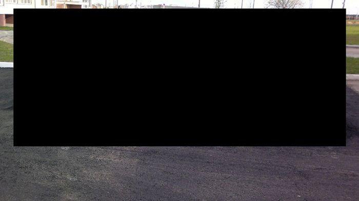 Дорожные работы во дворе Белоруссии (3 фото)