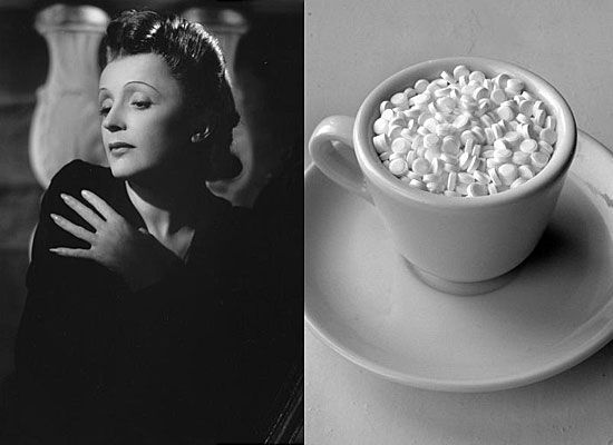 Эдит Пиаф — всё<br/>Известно, что в 1951 году величайшая эстрадная певица, кумир всей Франции, попадает в серьезную автомобильную аварию, в результате которой у неё оказались сломаны рука и два ребра. Принимая болеутоляющие, она пристрастилась к морфину, начала пить все возможные таблетки. Незадолго до этой аварии, в авиакатастрофе погиб её любимый человек, уже тогда Эдит Пиаф впала в депрессию и пыталась уйти от реальности с помощью алкоголя. От самоубийства ее спасла подруга. Лечение не принесло ожидаемого результата. От алкоголизма и депрессии певица так и не избавилась. Но, несмотря ни на что, она продолжала выступать. Страсть к сцене давала ей силы, даже тогда, когда она, уже больная раком, не могла дышать из-за подступающей к горлу крови.