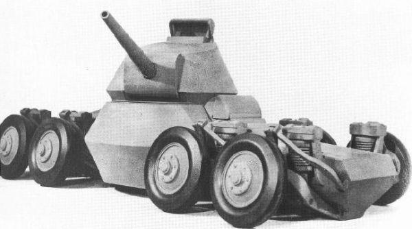Восьмиколесный американский прыгающий бронеавтомобиль. Может брать барьер в 1,25 м высотой, а на максимальной скорости в 64 км/ч - ещё и перескакивать рвы шириной до 14 м.