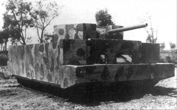 Бетонный Т-34. Сделан из бетона.