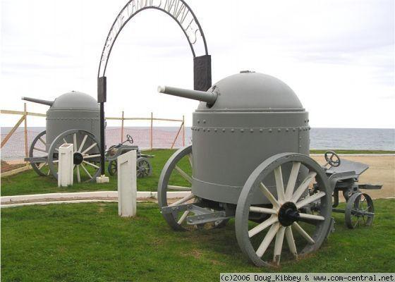 Броневая каретка Шумана. Оснащалась 57 мм пушкой и могла сниматься с лафета и использоваться как стационарное орудие, применялась при штурме крепостей.