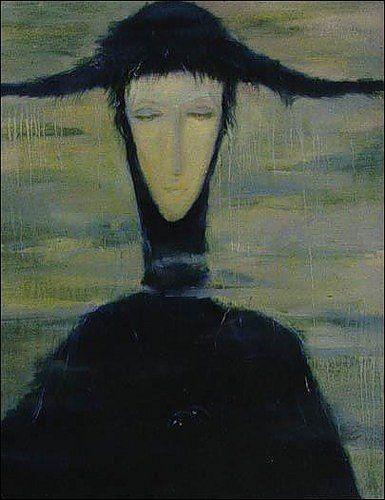 Откуда взялась необычная картина, рассказала ее автор – винницкая художница Светлана Телец. «В 1996 году я оканчивала Одесский художественный университет им. Грекова, – вспоминает Светлана. – И за полгода до рождения «Женщины» мне все время казалось, что за мной постоянно кто-то наблюдает. Я отгоняла от себя такие мысли, а потом в один из дней, кстати, совсем не дождливый, сидела перед чистым холстом и думала, что нарисовать. И вдруг четко увидела контуры женщины, ее лицо, цвета, оттенки. В одно мгновение заметила все детали образа. Основное написала быстро – часов за пять управилась. Казалось, моей рукой кто-то водил. А потом еще месяц дорисовывала». Приехав в Винницу, Светлана выставила картину в местном художественном салоне. К ней то и дело подходили ценители искусства и делились такими же мыслями, какие возникали у нее самой во время работы. «Было интересно наблюдать, – говорит художница, – насколько тонко вещь может материализовать мысль и внушить ее другим людям». Несколько лет назад появилась первая покупательница. Одинокая бизнесменша долго ходила по залам, присматривалась. Купив «Женщину», повесила ее у себя в спальне. Через две недели в квартире Светланы раздался ночной звонок: «Пожалуйста, заберите ее. Я не могу спать. Такое впечатление, что в квартире, кроме меня, кто-то есть. Я ее даже со стены сняла, за шкаф спрятала, а все равно не могу». Потом появился второй покупатель. Потом картину купил молодой мужчина. И тоже не выдержал долго. Сам принес ее художнице. И даже деньги назад не взял. - Она мне снится, – жаловался он. – Вот каждую ночь появляется и тенью вокруг меня ходит. Я с ума сходить начинаю. Боюсь этой картины! Третий покупатель, узнав о дурной славе «Женщины», лишь отмахнулся. Даже сказал, что лицо зловещей дамы ему кажется милым. И с ним она наверняка уживется. Не ужилась. - Я сначала не замечал, какие у нее белые глаза, – вспоминал он. – А потом они начали появляться всюду. Головные боли начались, беспричинные волнения. А оно мне надо?! Та