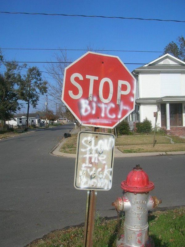 Издевательства над дорожным знаком STOP в США (44 фото)