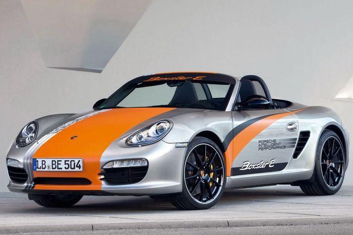 Компания Porsche представила три электрических Boxster E (4 фото)