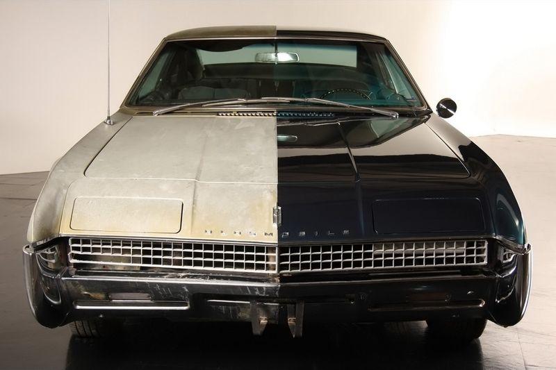 """Двойное """"лицо""""1967 Oldsmobile Toronado до и после реставрации (34 фото)"""