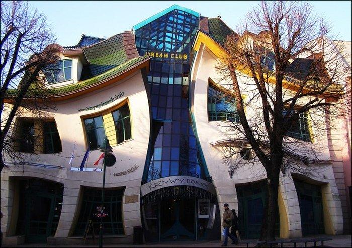 Кривой дом в Сопоте (3 фото)