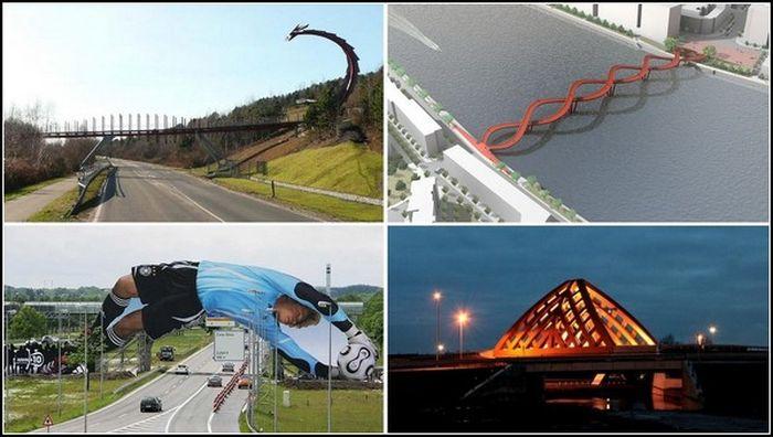 Обзор самых необычных в мире мостов (16 фото)