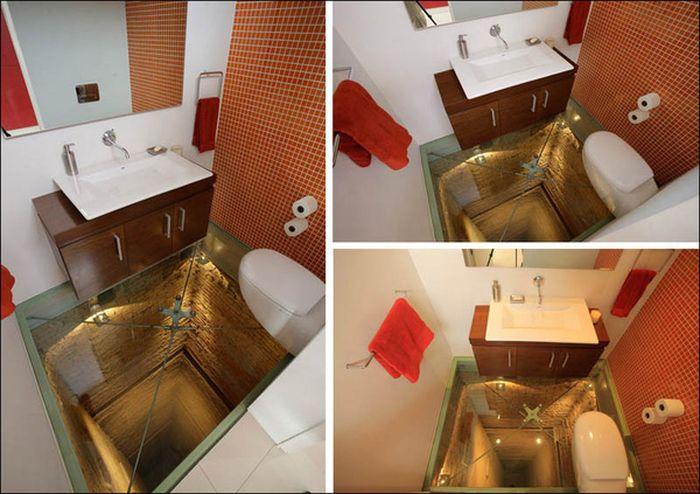 Ванная в шахте лифта (4 фото)