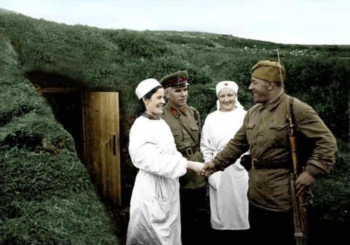 Цветные фотографии советских солдат во Второй Мировой (53 фото)