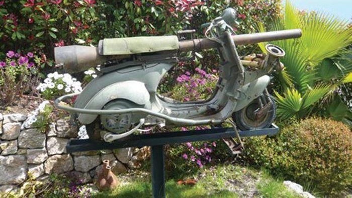 Огнебойный мотороллер Vespa 1959 года выпуска (4 фото)