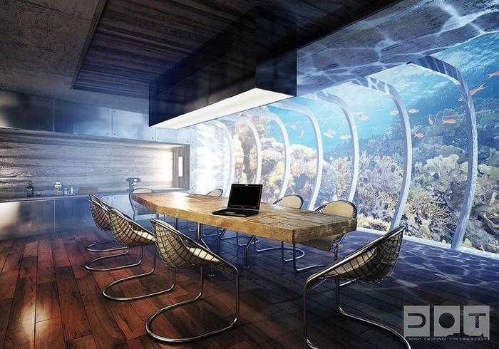 Подводный отель в Дубае (11 фото + 1 видео)
