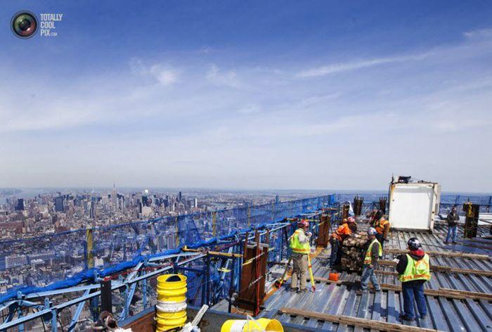 Строительство первого Всемирного торгового центра в Нью-Йорке (29 фото)