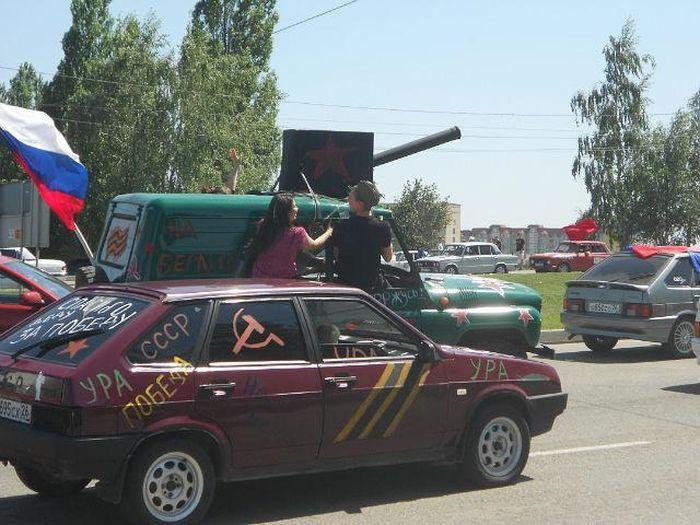 Народная аэрография автомобилей к 9 мая (7 фото)