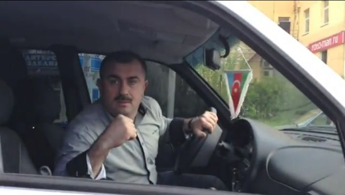 Азербайджанский дипломат беспредельщик (видео)