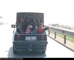 Крайне опасная перевозка детей (смотреть до конца)