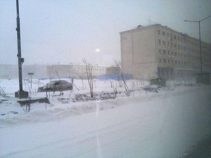 Сюрпри-и-и-и-з, сказала норильская погода всем горожанам! (10 фото)