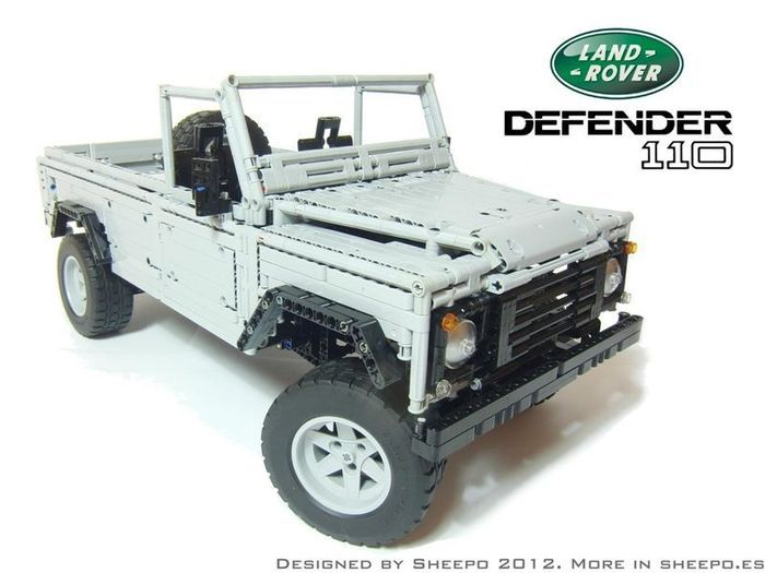 Land Rover Defender 110 в масштабе 1:8.5 из LEGO (12 фото+видео)