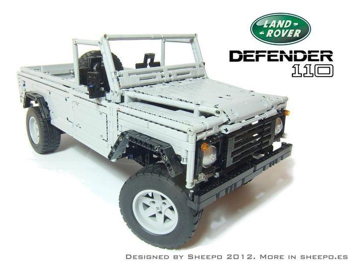 Land Rover Defender 110 в масштабе 1:8.5 из LEGO (12 фото+видео)