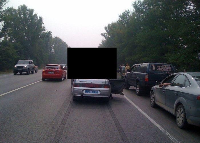 Необычная авария с машиной ДПС - где виноваты не полицейские (4 фото)