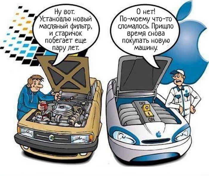 Mac и PC на примере автомобилей (2 фото)