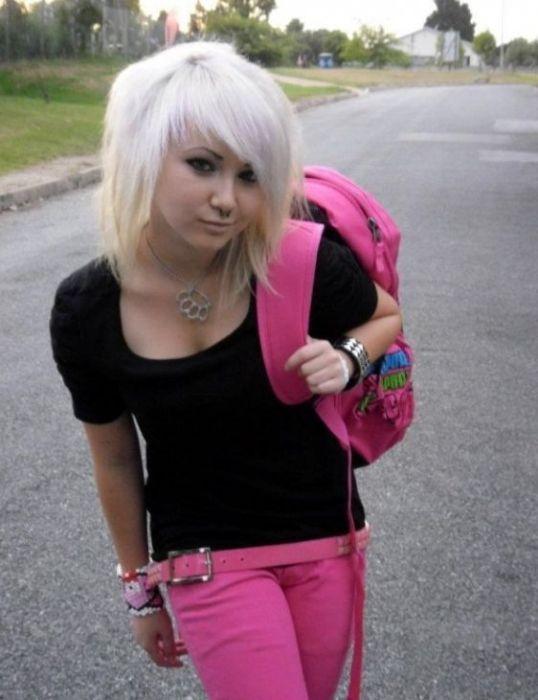 Парень эмо снял блондинку фото 451-698