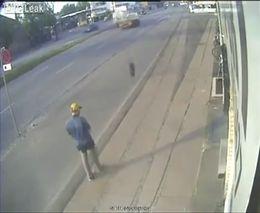 Везучий пешеход