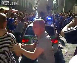 Фанаты Челси и германская полиция