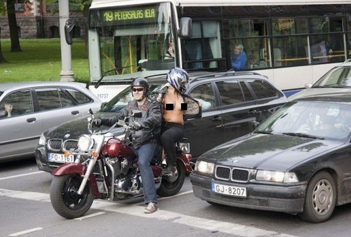 Спасибо от мотоциклистов по-рижски (7 фото НЮ)