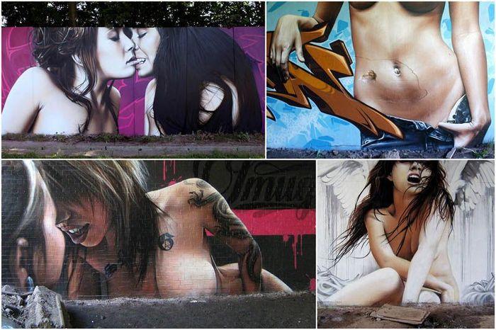 Стрит-арт от уличного художника SmugOne (38 фото)