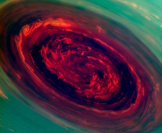 космос, сатурн, ураган