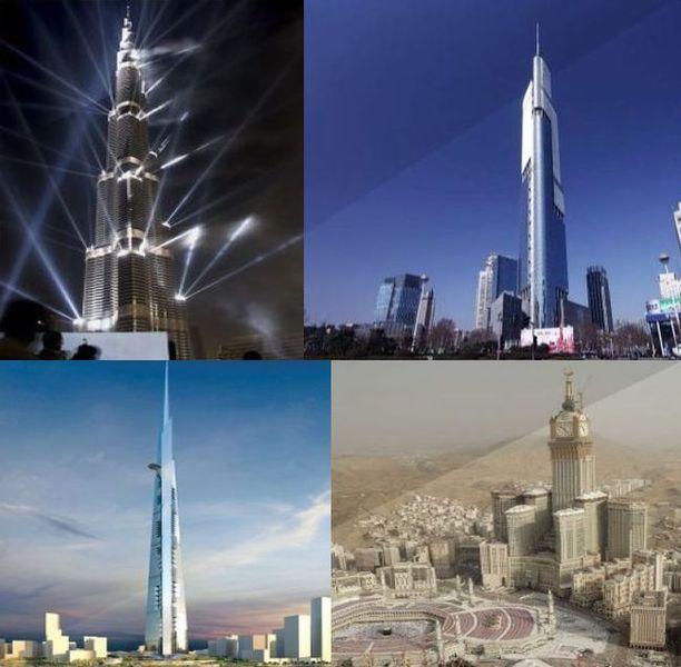 мир, планета, башни, здание, небоскреб