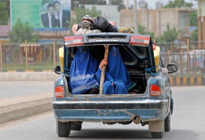 Прикольные фото багажник, пассажиры, прикол
