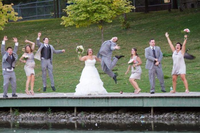 Прекрасные фото девушка, прыжок, свадьба