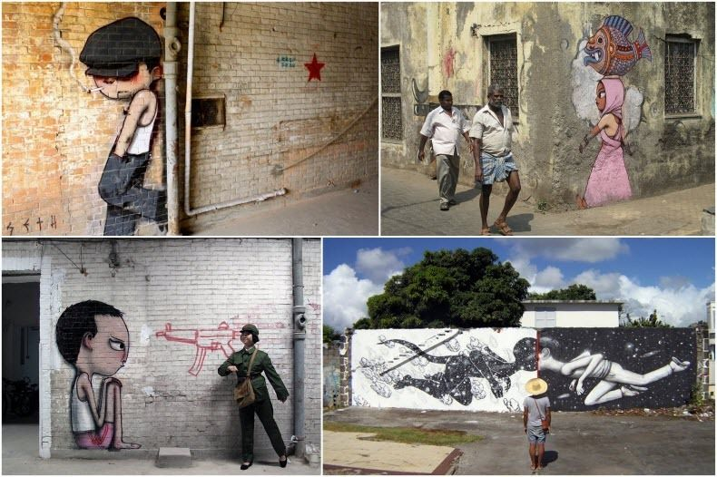 граффити, уличное искусство, художник