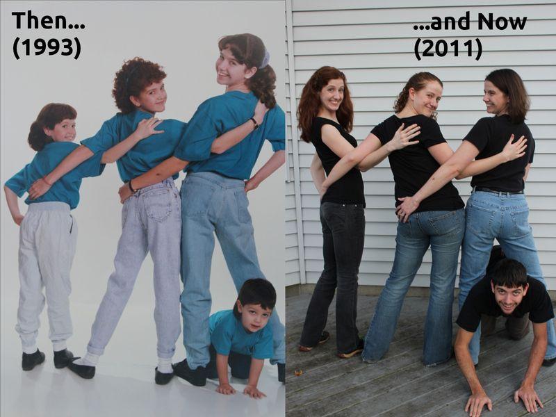 Семейные фото – тогда исейчас (22фото)