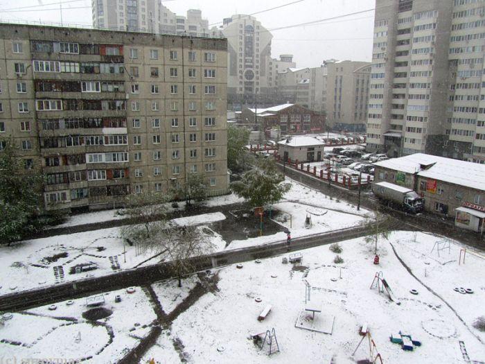 край, снег, катаклизм, град, дождь