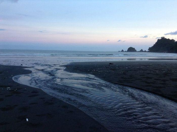 река, берег, океан, поток