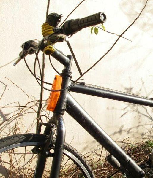 велосипед, кол, противоугонка